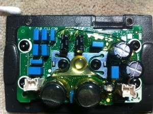Bose SoundDock Series II internals - amplifier board top