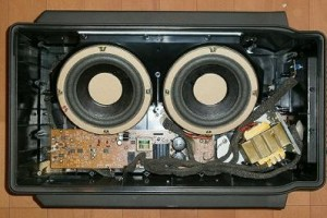 Bose AM-01 Acoustimass Bass Charger Series Opened Inside