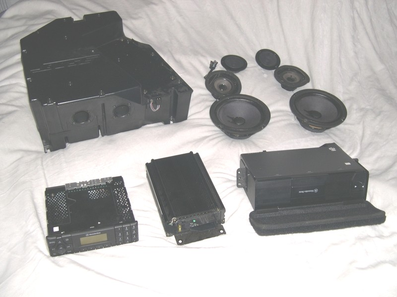 sound system components. bose mercedes r129 sound system components t
