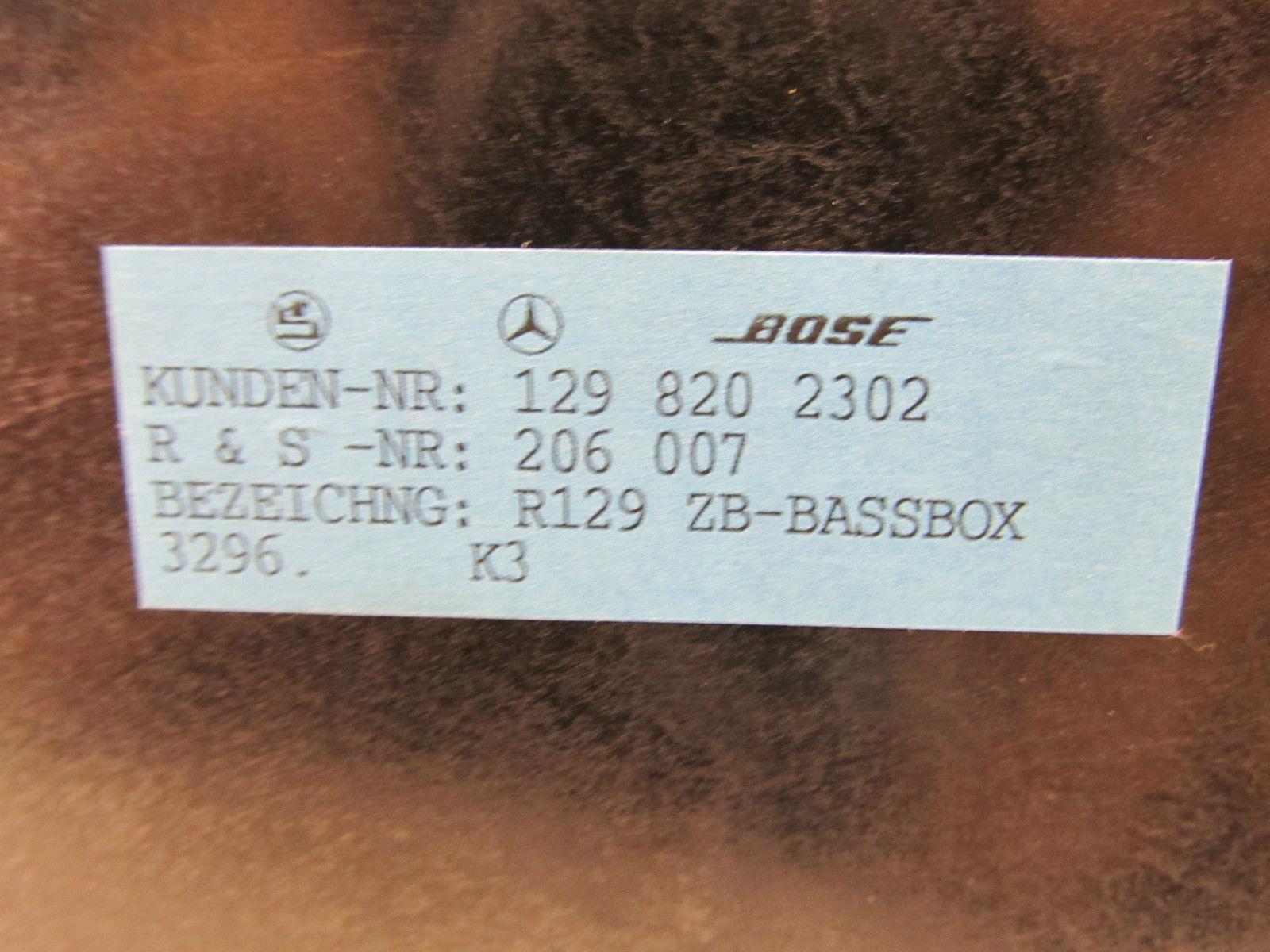 Bose Mercedes R129 SL Sound System - What\'s Inside