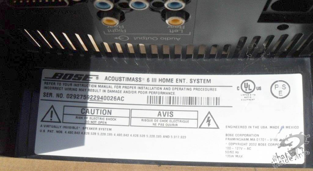 Bose Audio >> Bose Acoustimass 6 Series III Woofer - 03 - What's Inside