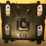 Mercedes-Benz W163 ML Window Switches Repair 13 - Fog and lock button rockers removed