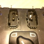 Mercedes-Benz W163 ML Window Switches Repair 14 - Required removal under rockers detail