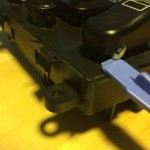 Mercedes-Benz W163 ML Window Switches Repair 8 - Remove button cover step 1