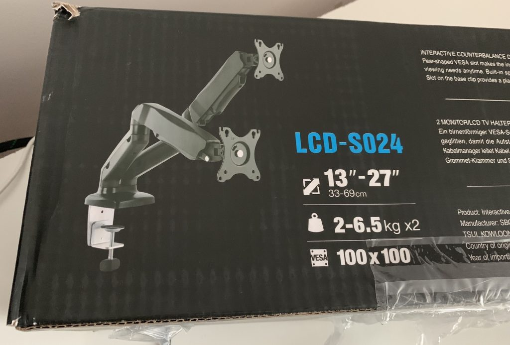 Specifications on the box